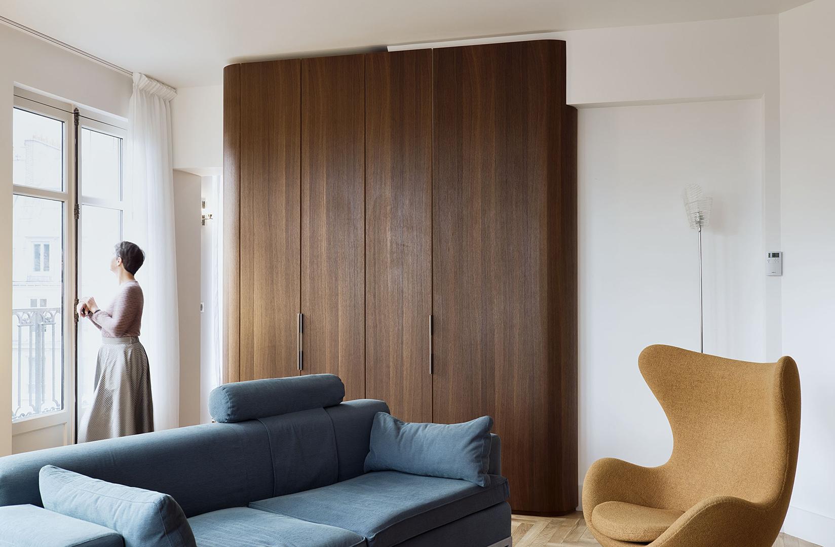 meuble sur mesure chêne fumé