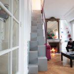 Escalier à pas japonais métallique