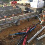 Chantier : fondations / réservations