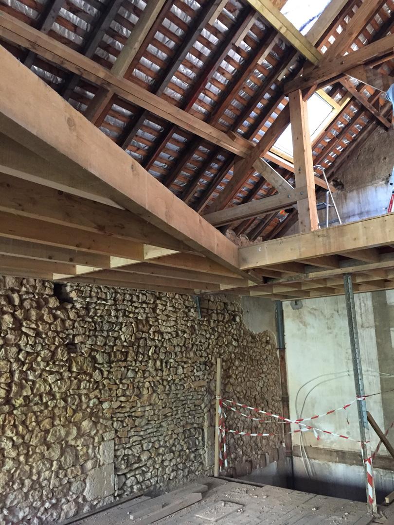 Chantier : plancher étage